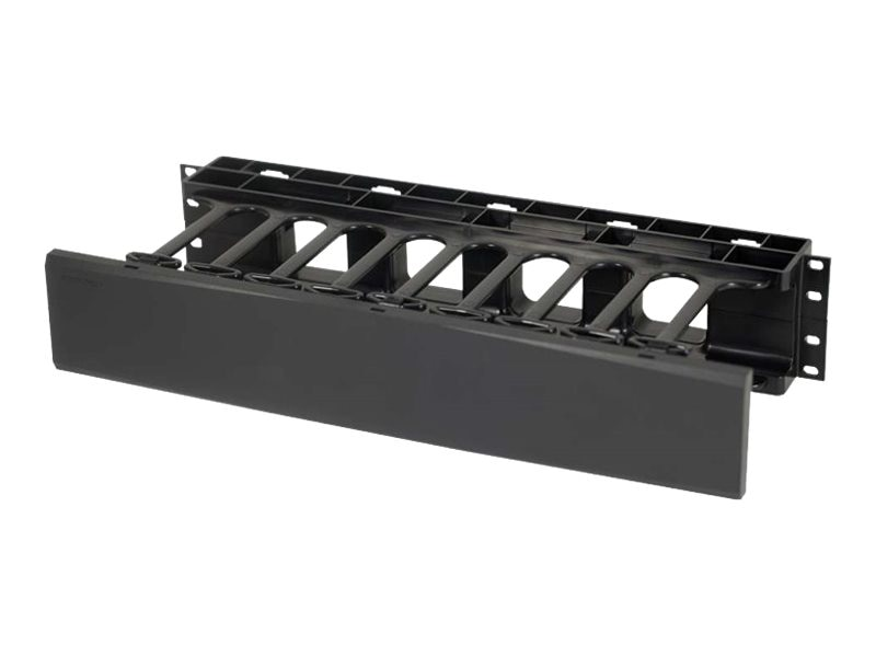 C2G 2U Single-Sided Horizontal Cable Management Panel, 14597, 30920721, Rack Cable Management