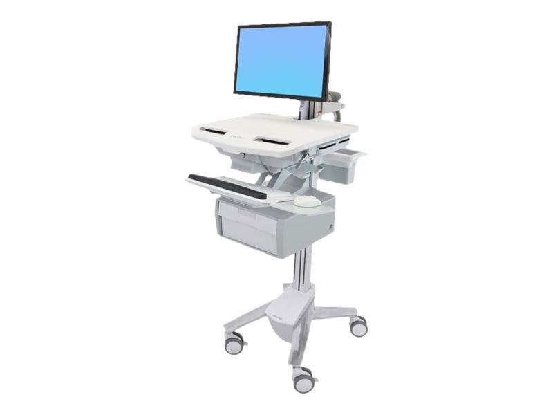 Ergotron StyleView Cart with LCD Arm, 1 Tall Drawer, SV43-12B0-0, 31498171, Computer Carts - Medical