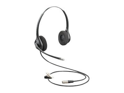 Plantronics SupraPlus HW261N-DC Dual-Channel Wideband Headset with 30in Cable, 86872-01, 13461009, Headsets (w/ microphone)