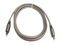Calrad 5MM Spring Loaded Toslink M M Cable, Gray, 3ft