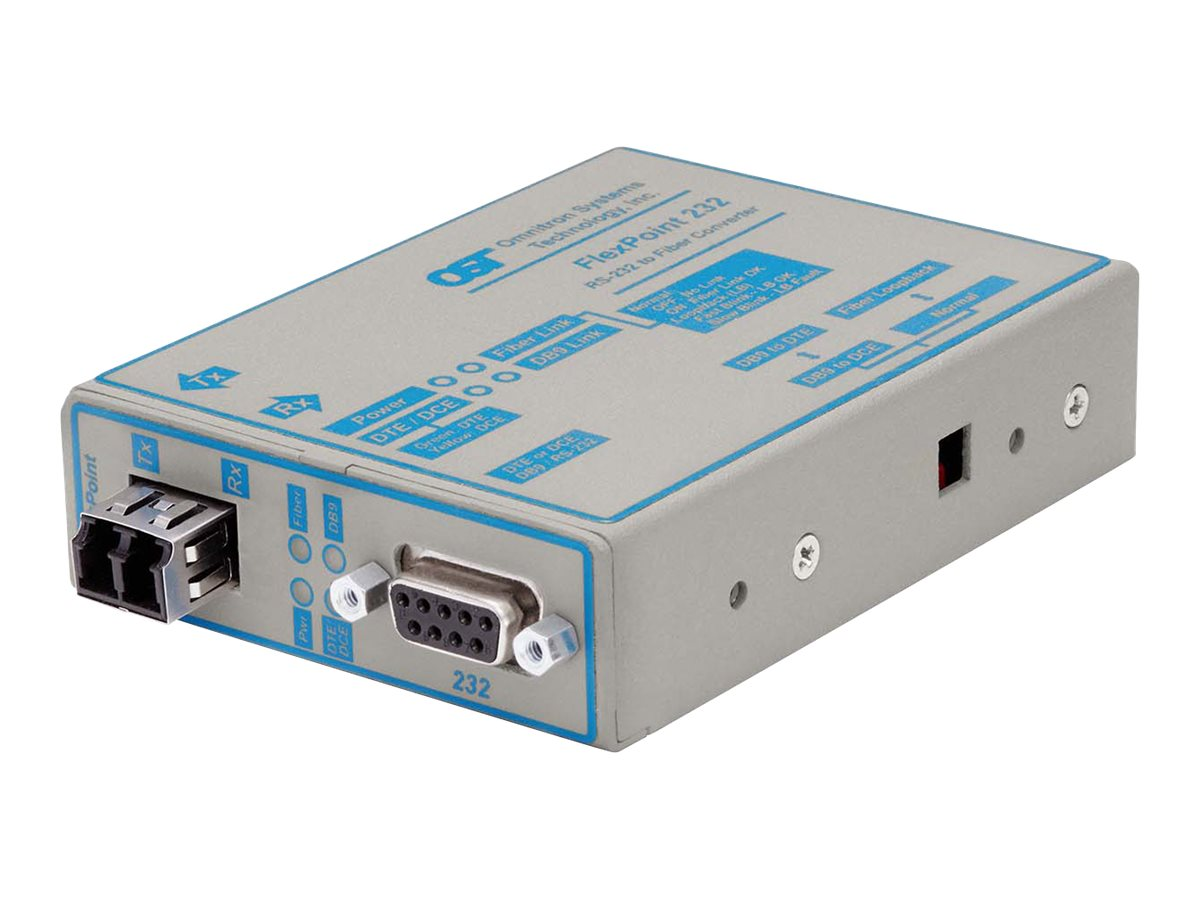Omnitron Flexpoint RS-232 to SM LC 1310NM 30KM no PS, 4489-20, 11621671, Network Transceivers