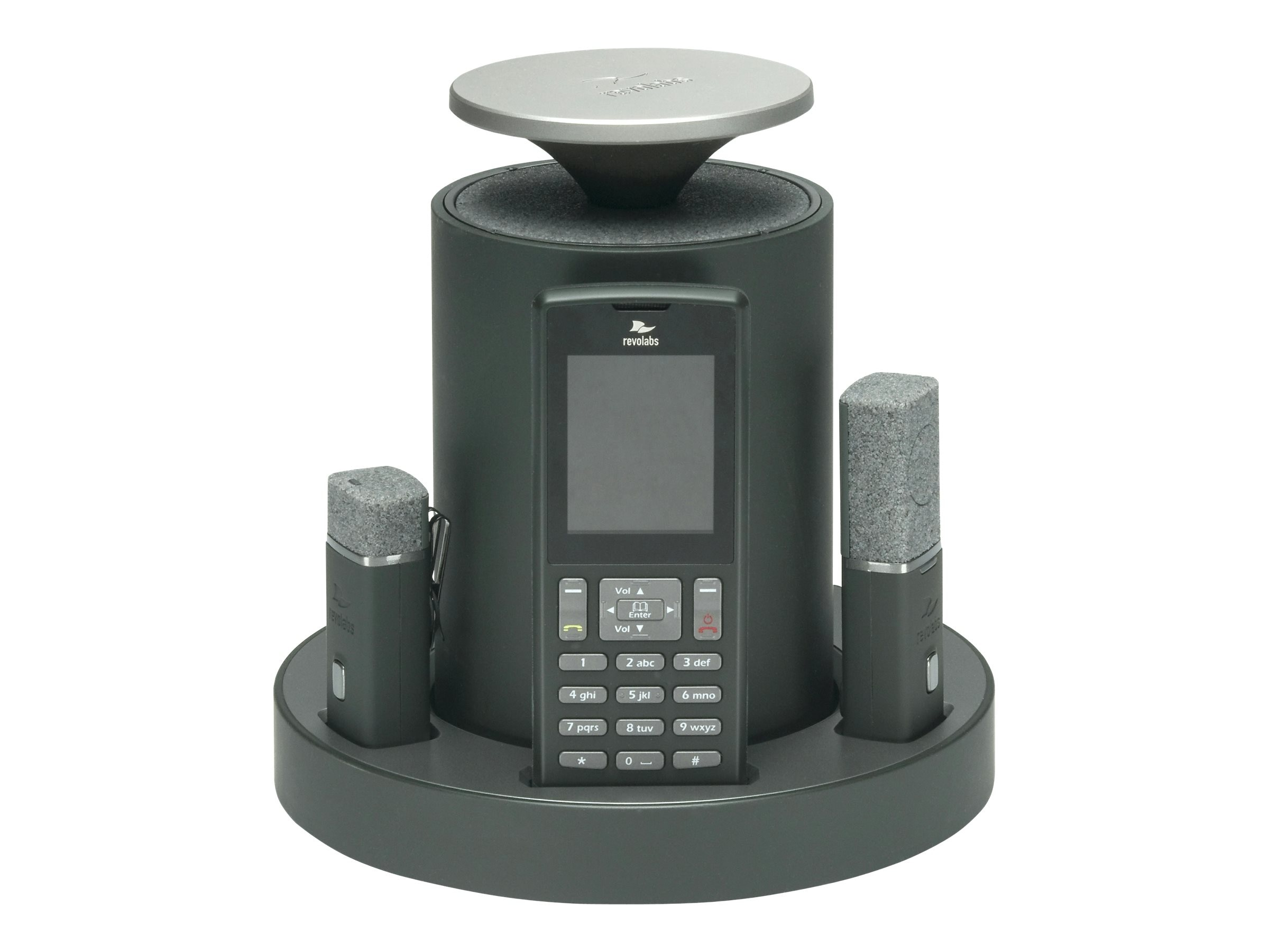 Revolabs FLX2 Wireless Conference Phone System with 1 Omni & 1 Wearable Microphone, 10-FLX2-101-POTS
