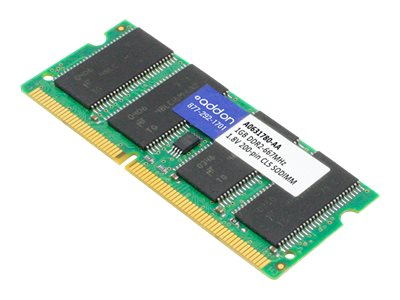 ACP-EP 1GB PC2-5300 200-pin DDR2 SDRAM SODIMM for Dell, A0631780-AA