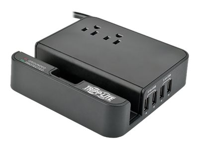 Tripp Lite Protect It! Surge Suppressor Charging Station, (2) Outlet, 6ft Cord, TLP26USBB, 17649762, Surge Suppressors