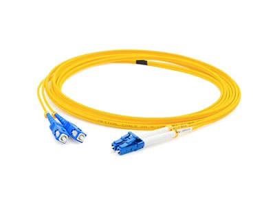 ACP-EP SC-LC OS1 Singlemode Duplex Fiber Patch Cable, Yellow, 9m