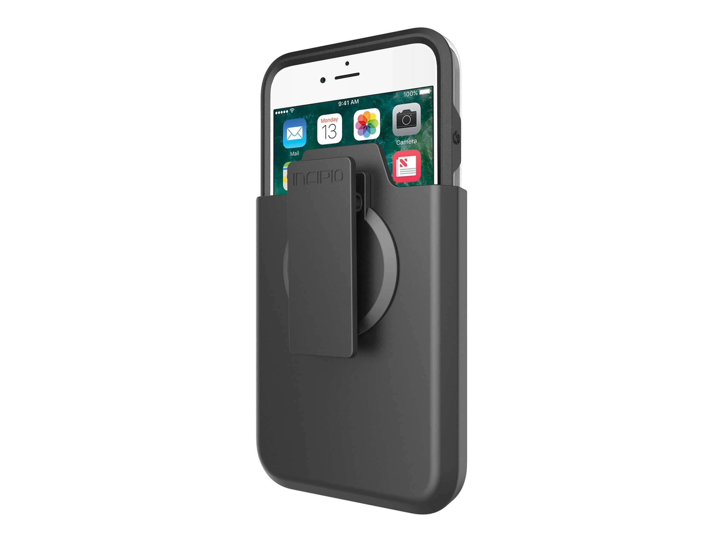 Incipio Performance Series Ultra with Holster for iPhone 7 Plus, Black Gray