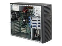 Supermicro Chassis, Mid-Tower, EATX, 4x3.5 SAS SATA, 2x5.25, 865W PS, Black, CSE-732I-865B, 13031367, Cases - Systems/Servers