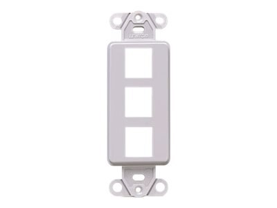 Leviton Quickport Decora Insert, 6-Port, Gray, 41643-GY, 12902511, Cable Accessories