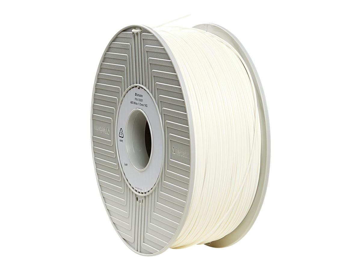 Verbatim White 1.75mm 1kg ABS 3D Filament