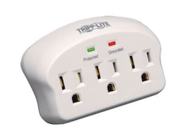 Tripp Lite Protect It! Surge Suppressor, 660 Joules, (3) Outlets, Direct Plug-in, SK3-0, 13420611, Surge Suppressors
