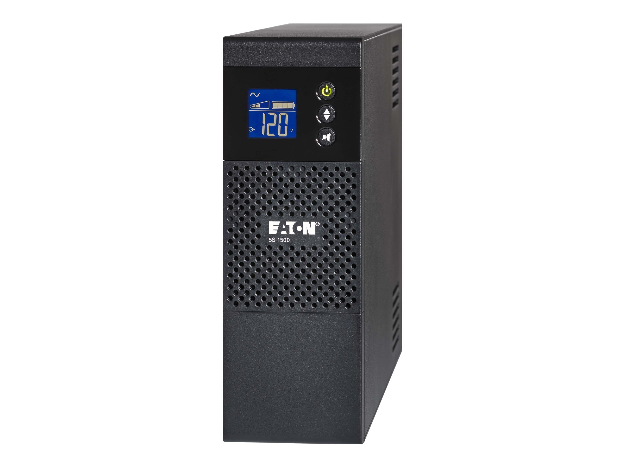 Eaton 5S LCD 1500VA 900W 120V Line-interactive Tower UPS 5-15P Input 6ft Cord, 5S1500LCD, 15792493, Battery Backup/UPS