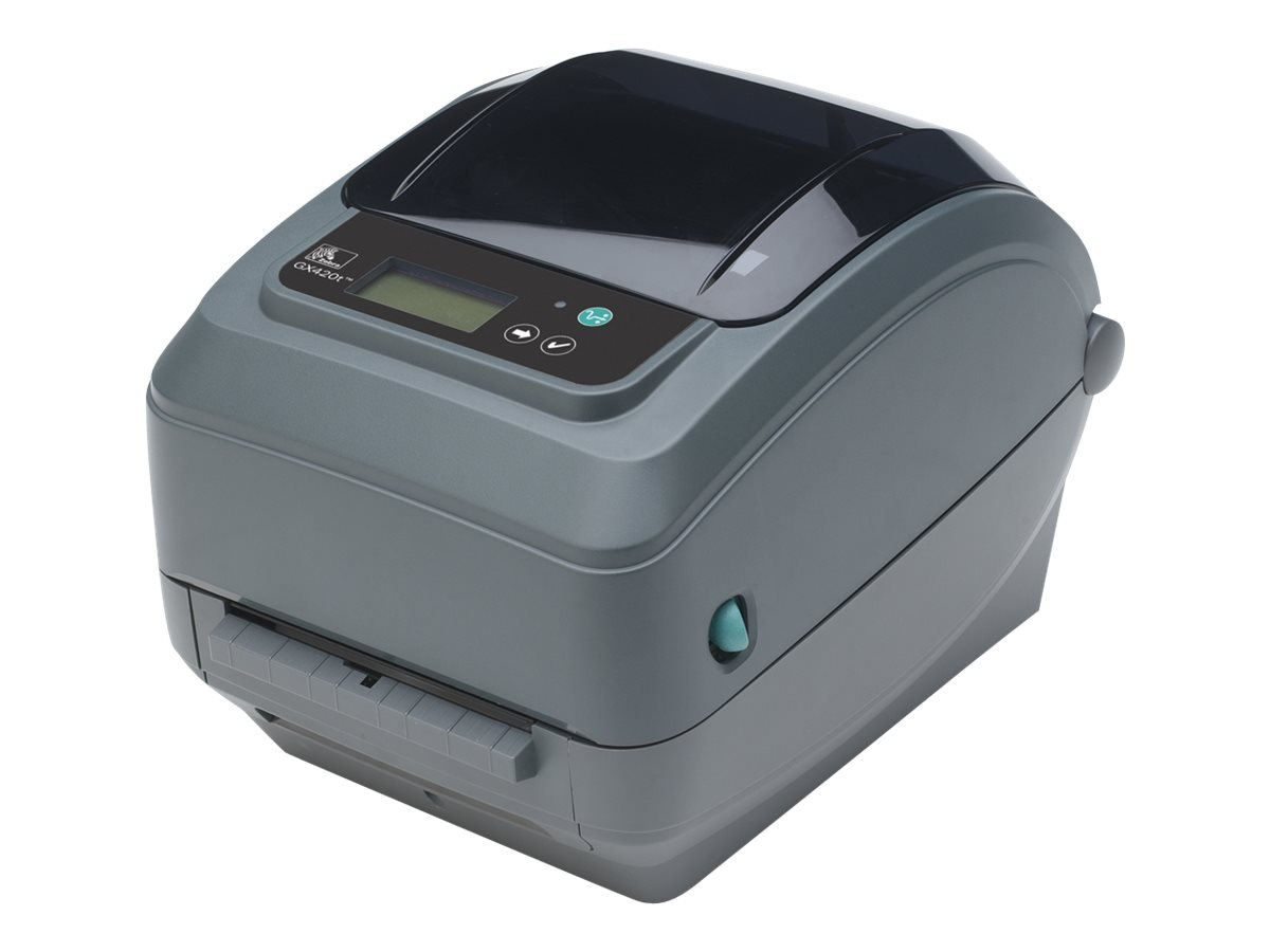 Zebra GX420 TT 203dpi EPL2 ZPL II  4MB 8MB USB Serial Ethernet Printer w  Cutter, GX42-102412-000, 13373295, Printers - Label