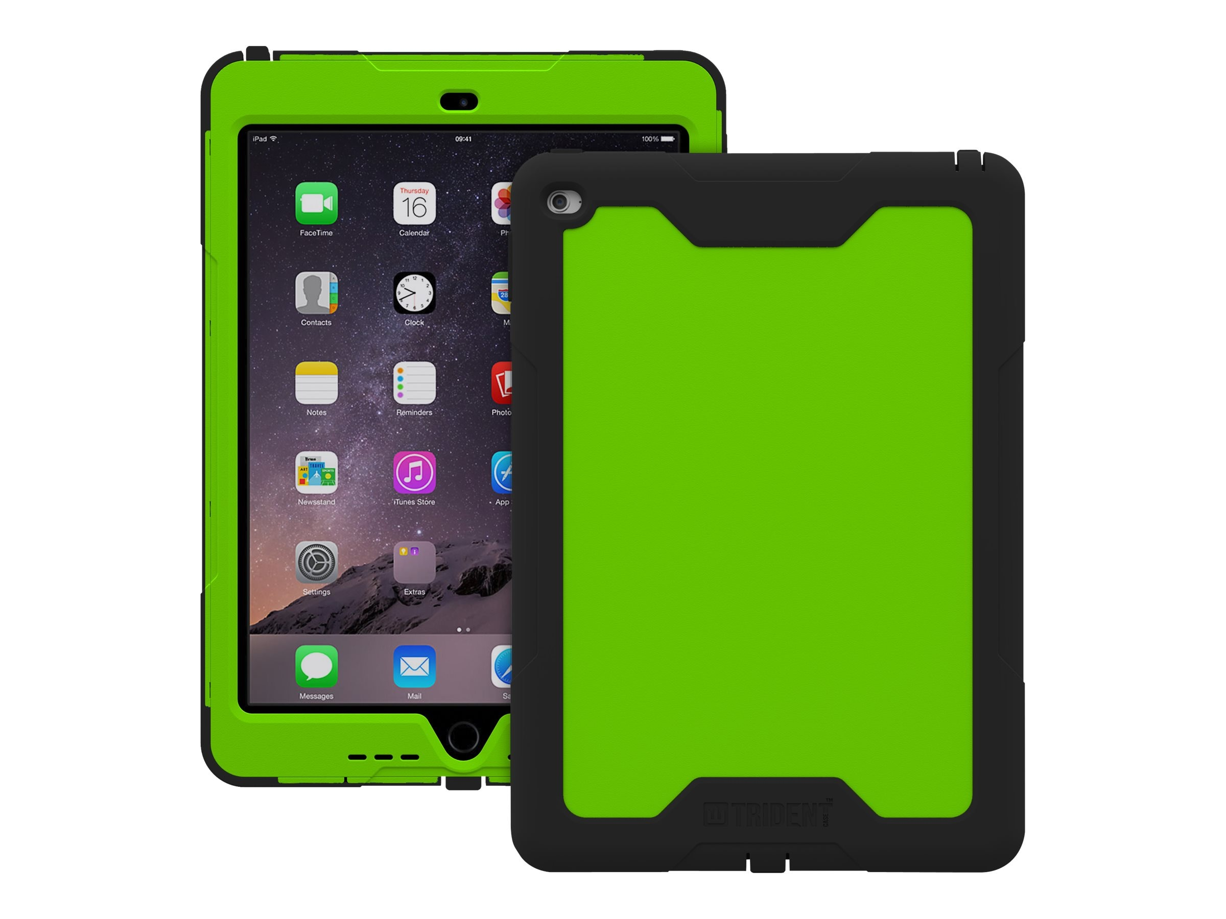 Trident Case 2015 Cyclops Case for iPad Air 2, Green, CY-APIPA2-TG000, 23619076, Carrying Cases - Tablets & eReaders