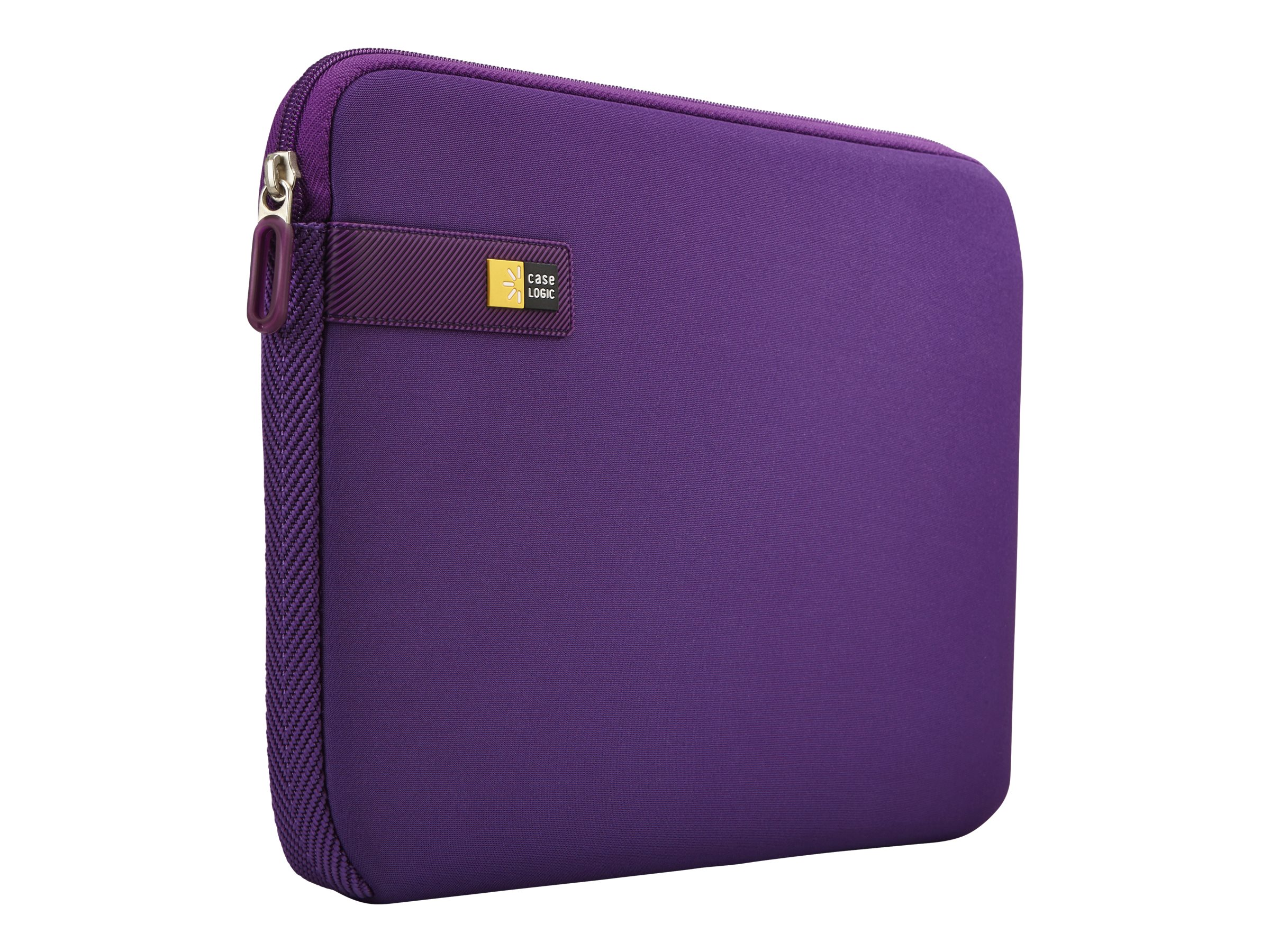 Case Logic Purple Chromebook Sleeve for 10-11.6, Lime Green, LAPS111PURPLE, 20867390, Carrying Cases - Notebook