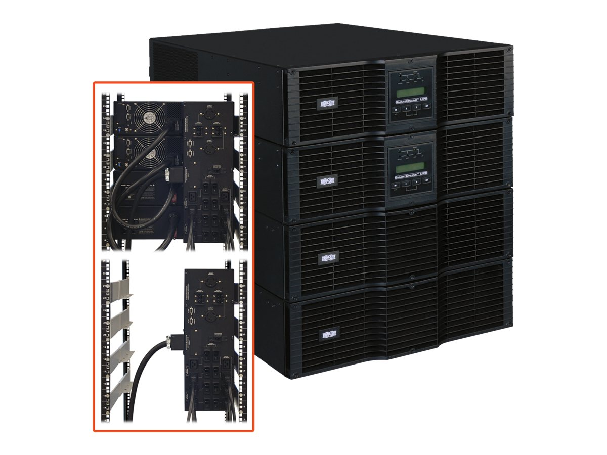 Tripp Lite SmartOnline 16kVA On-Line Double-Conversion UPS, N+1, 12U Rack Tower, (10) Outlets, SU16KRT8