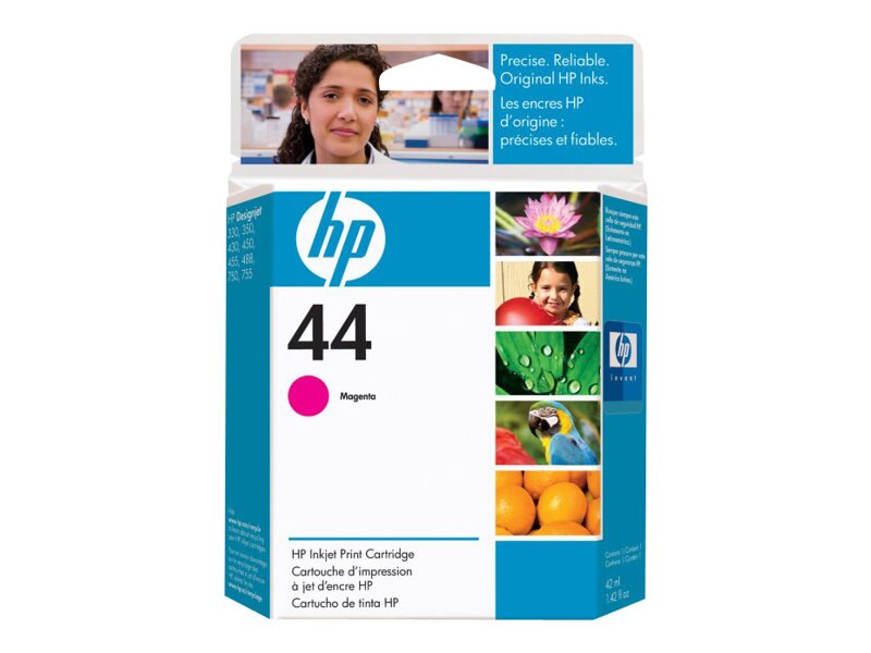 HP 44 Magenta Ink Cartridge for HP Designjet 350, 450, 455, 488, 750 & 755 Series Printers, 51644M, 37193, Ink Cartridges & Ink Refill Kits