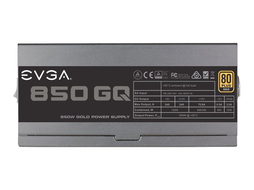 eVGA 850 GQ Power Supply, 210-GQ-0850-V1