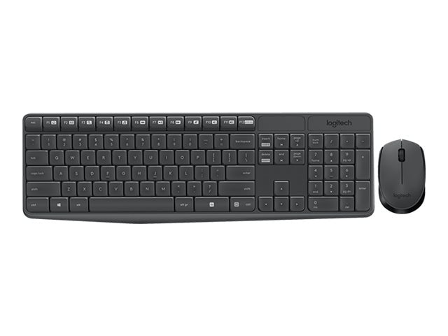 Logitech MK235 Wireless Keyboard & Mouse, Black, 920-007897