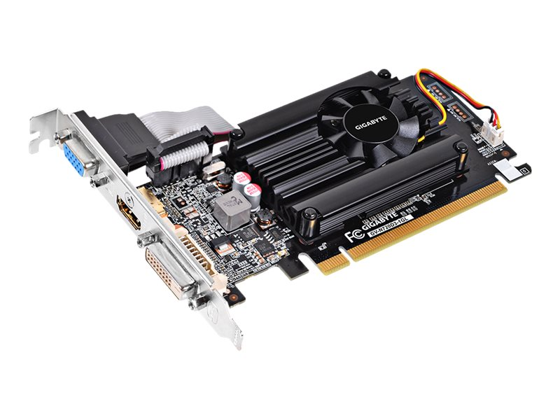 Gigabyte Tech NVIDIA GeForce GT 720 PCIe Graphics Card, 1GB DDR3, GV-N720D3-1GL, 17785529, Graphics/Video Accelerators