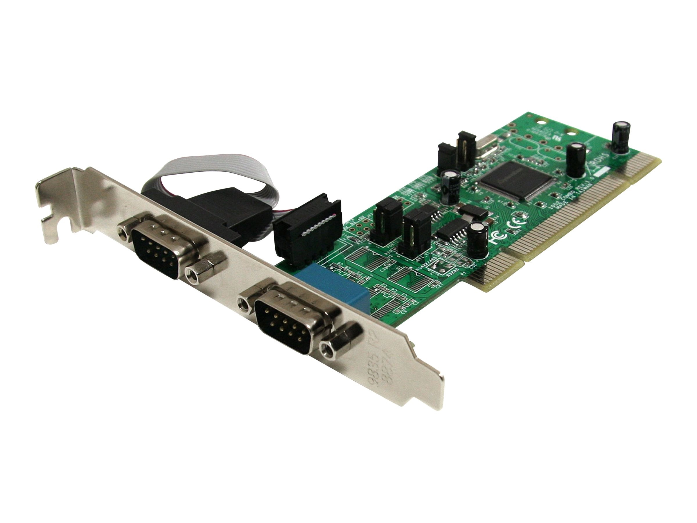 StarTech.com 2 Port PCI RS422 485 Serial Adapter Card w  161050 UART, PCI2S4851050, 12889388, Controller Cards & I/O Boards