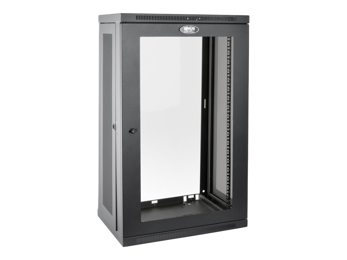 Tripp Lite SmartRack 21U Low-Profile Switch-Depth Wall-Mount Rack Enclosure Cabinet w  Clear Acrylic Window