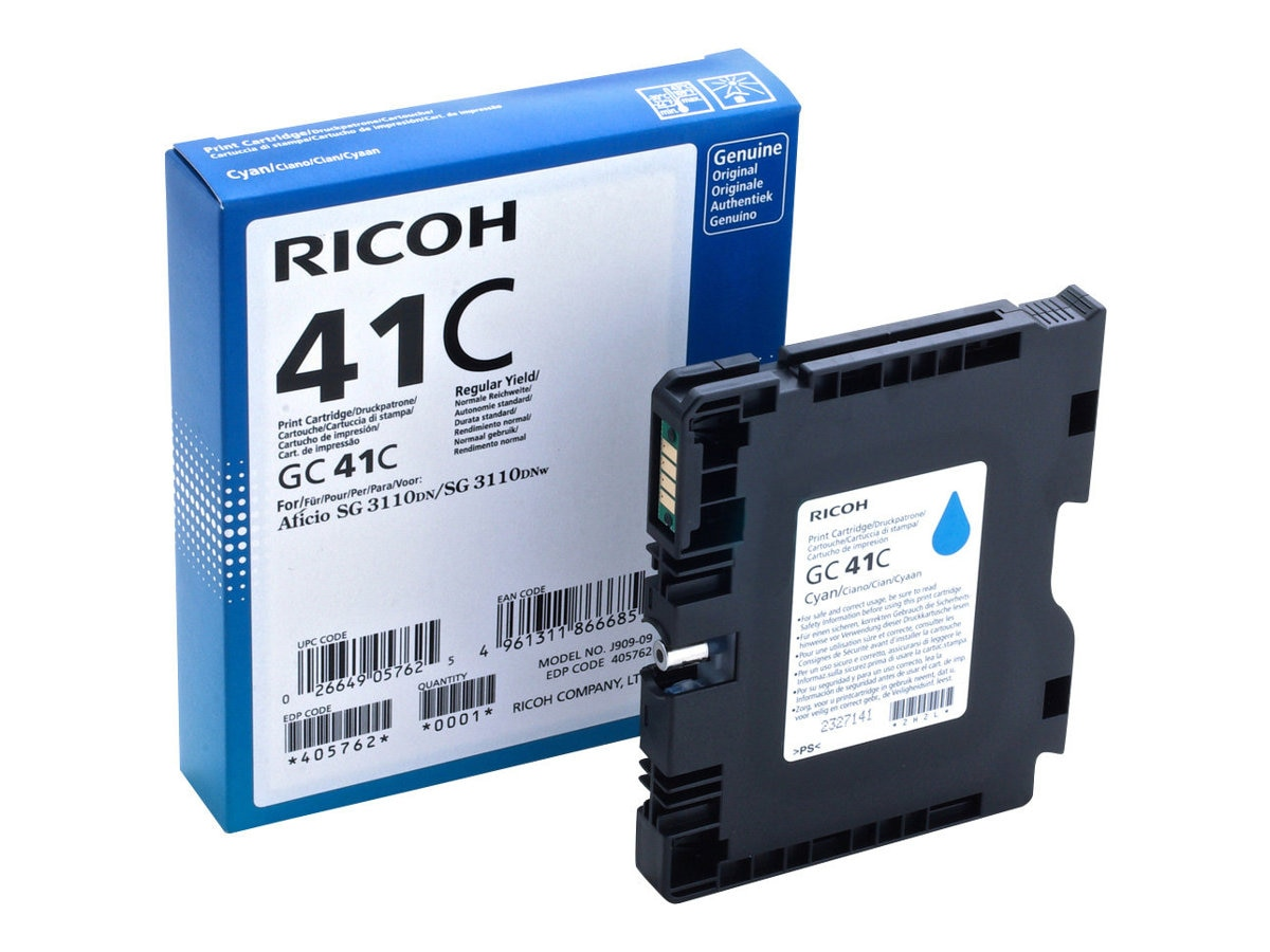 Ricoh Cyan GC41C Print Cartridge, 405762