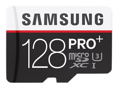 Samsung 128GB Micro SD PRO+ Memory Card with SD Adapter, MB-MD128DA/AM