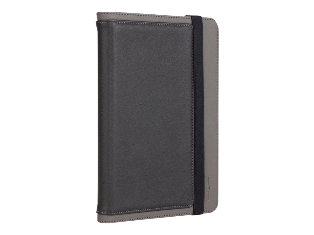 Targus Foliostand for iPad mini, Black Gray Crosshatch, THZ37212US, 25113028, Carrying Cases - Tablets & eReaders