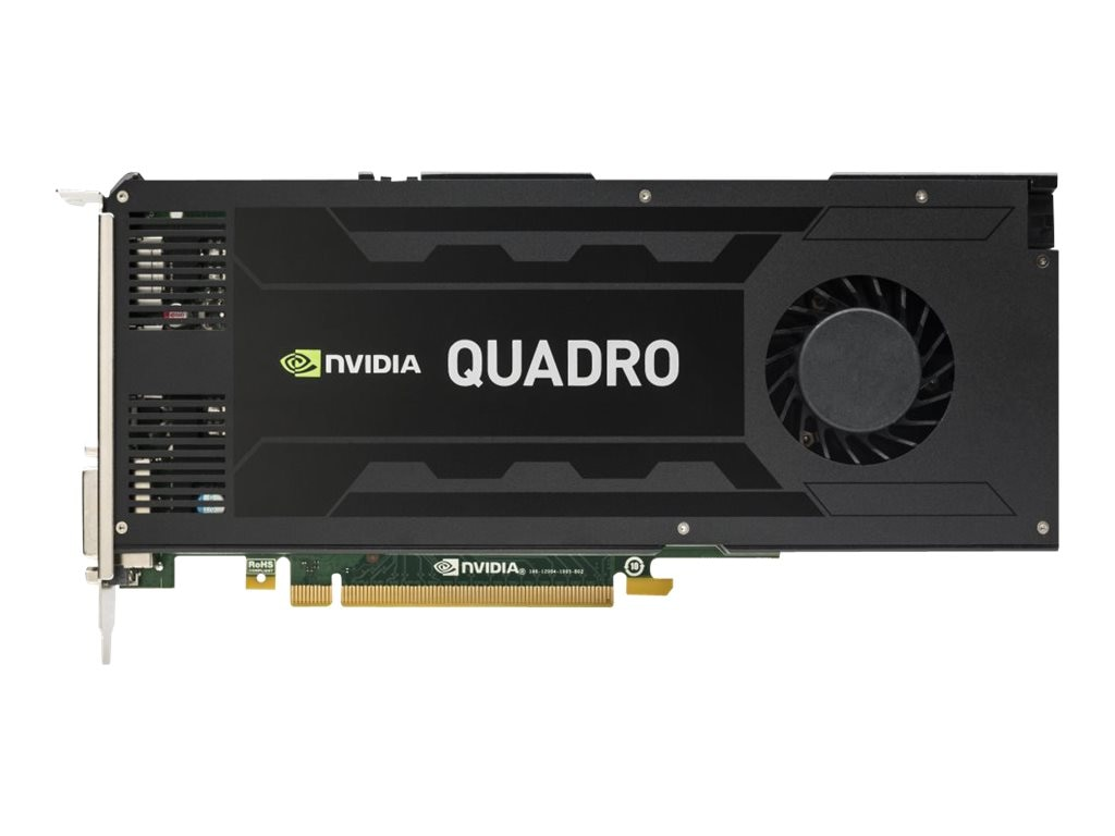 HP Smart Buy NVIDIA Quadro K4200 PCIe 2.0 x16 Graphics Card, 4GB GDDR5, J3G89AT, 17951312, Graphics/Video Accelerators