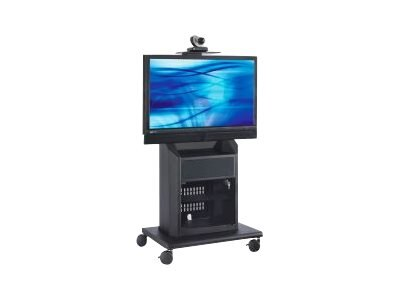 Avteq Mobile Cart with Camera Platform, Rack Rails for Displays up to 55