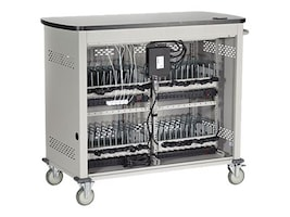Black Box 48-Slot Adjustable Shelf Charging Cart for Select Devices up to 10, UCCDM-12-48H, 32988050, Computer Carts