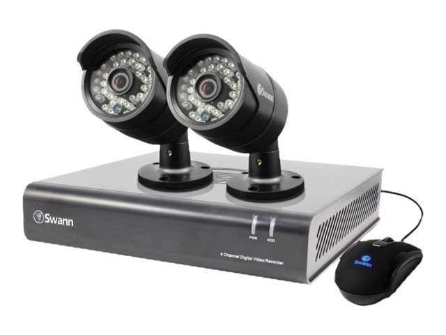 Swann 4 Channel 720p Digital Video Recorder with 500GB HDD, 2x PRO-A850 Cameras