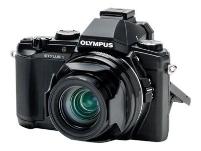 Olympus Stylus 1s Digital Camera, 12MP, 10.7x Zoom, Black, V109020BU000, 19804990, Cameras - Digital - Point & Shoot