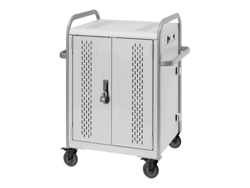 Bretford Manufacturing 20-Unit Chromebook Charge Cart with Back Access Panel, MDMLAP20BP-CTAL, 20594441, Computer Carts