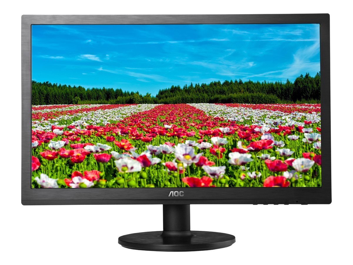 AOC 19.5 E2060SWDA-TAA LED-LCD Monitor, Black, E2060SWDA-TAA, 16892066, Monitors - LED-LCD