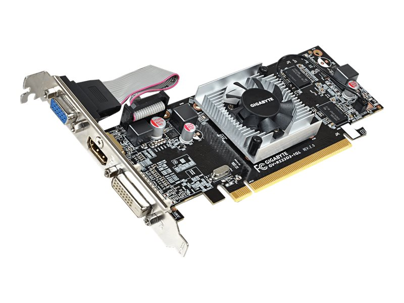 Gigabyte Tech Radeon R5 230 PCIe 2.0 Graphics Card, 1GB DDR3, GV-R523D3-1GL REV2.0, 30757928, Graphics/Video Accelerators