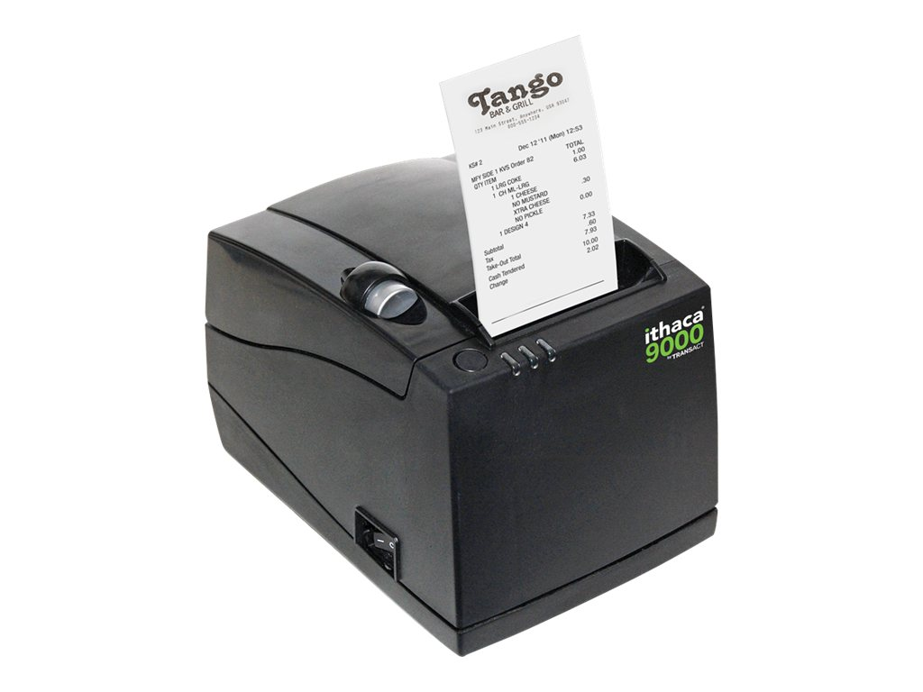 Ithaca 9000 USB Label Receipt Thermal Printer - Black, 9000-USB
