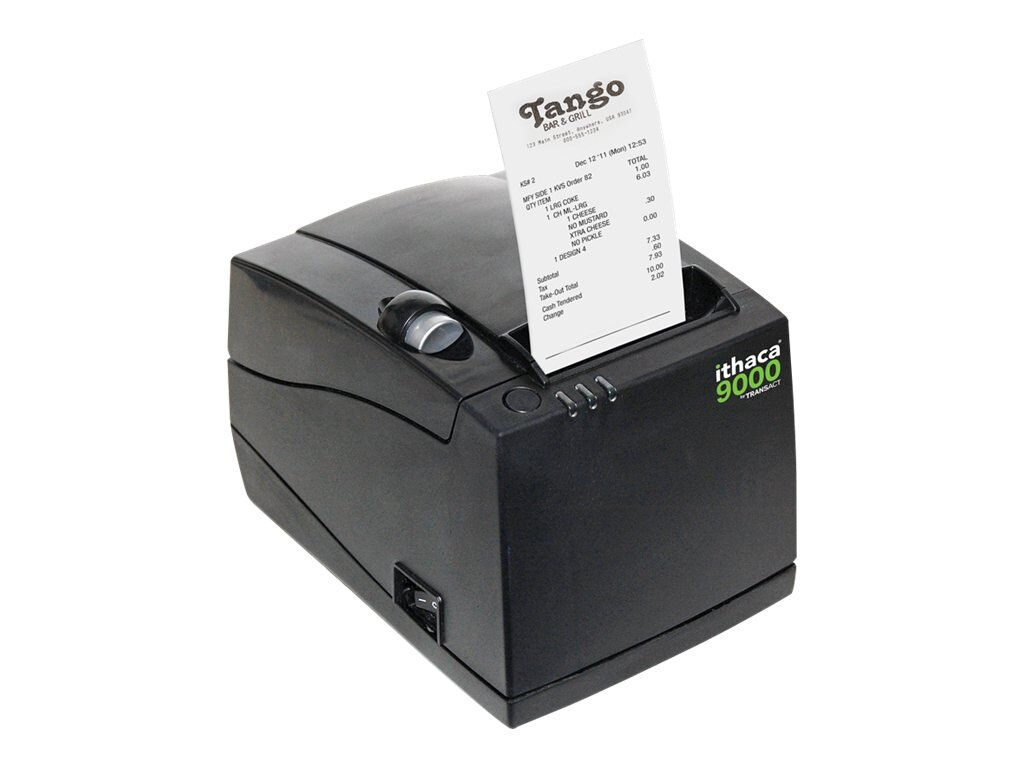 Ithaca 9000 USB Label Receipt Thermal Printer - Black