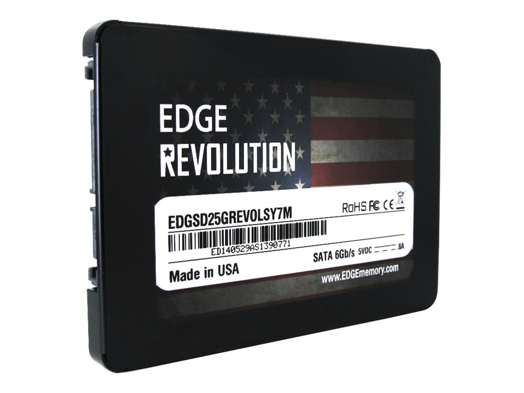 Edge 480GB Revolution SATA 6Gb s 2.5 7mm Internal Solid State Drive, EDGSD-243432-PE, 17403383, Solid State Drives - Internal