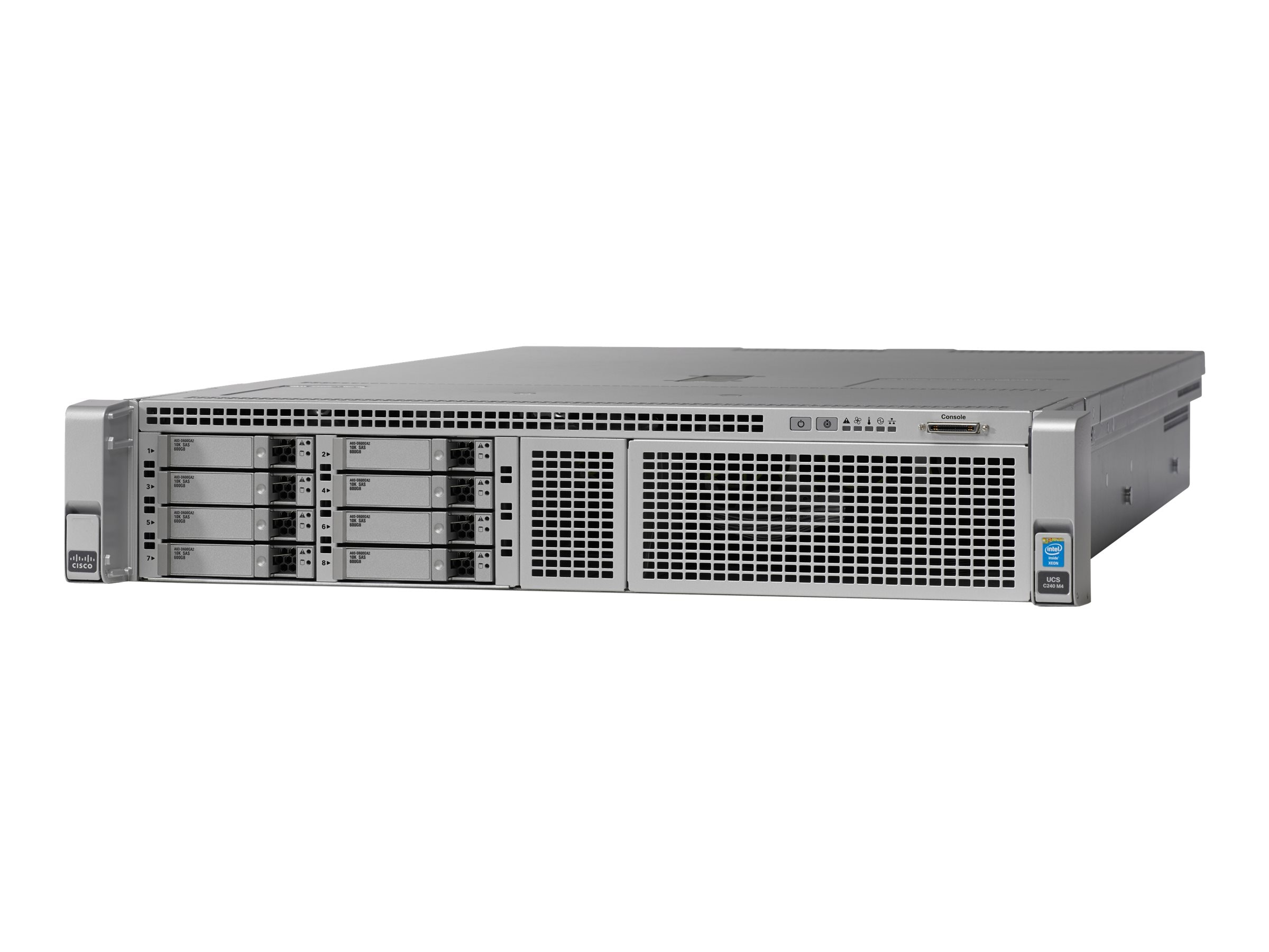 Cisco Barebones, UCS C240 M4 8xSFF without CPU, Memory, HDD, SSD, PCIe, Rail Kit or PSU