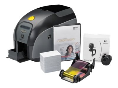 Zebra ZXP Series SS USB Card Studio YMCKO Printer Media Starter Kit, Z11-0000B000US00
