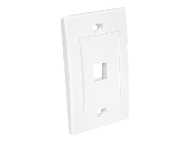 StarTech.com Single Outlet Universal Wall Plate, White, PLATE1WH, 5348330, Premise Wiring Equipment