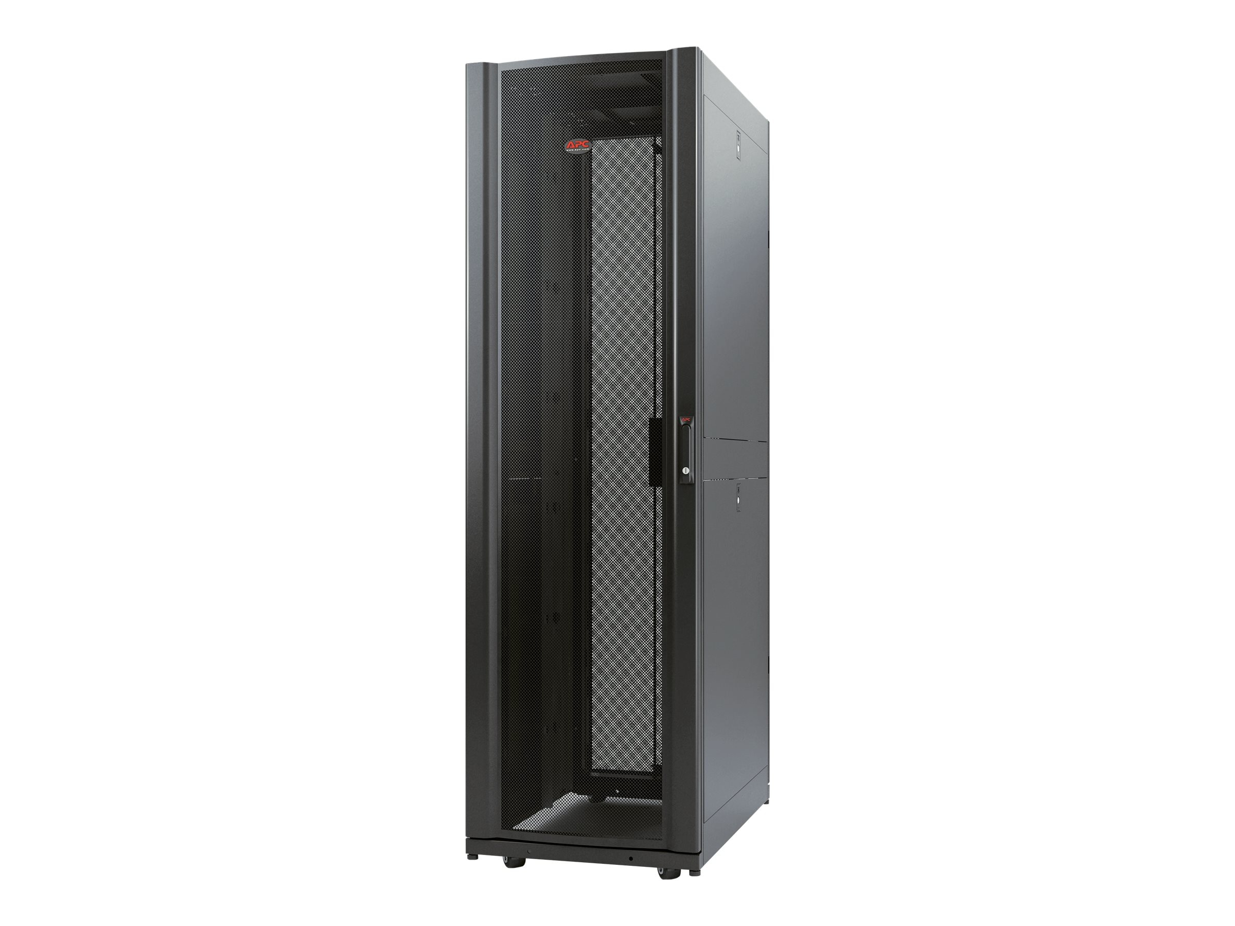 APC NetShelter AV 42U 600mm Wide x 825 Deep Enclosure with Sides and 10-32 Threaded Rails, Black