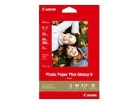 Canon 5 x 7 Photo Paper Plus Glossy II (20-sheets), 2311B024, 8722104, Paper, Labels & Other Print Media