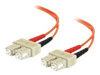 C2G Fiber Optic Patch Cable, SC-SC, 62.5 125, Duplex Multimode, 10m, 09167, 4900170, Cables