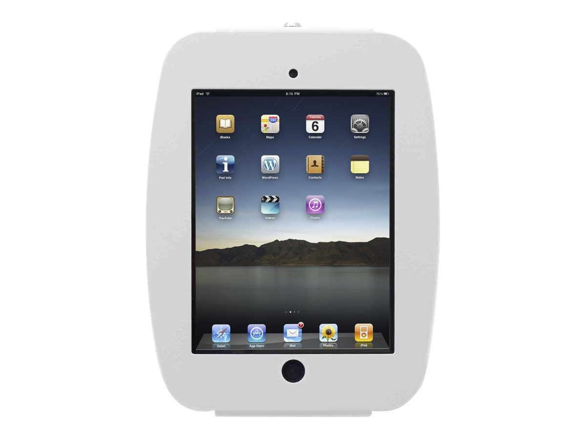Compulocks iPad Enclosure, Space Wall Mount, fits iPad 2 3 4 , White, 224SENW, 16208341, Security Hardware