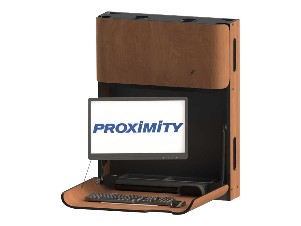 Proximity Classic CXT-28-A Self-Disinfecting Wall Station with Monitor Arm, Fonthill Pear