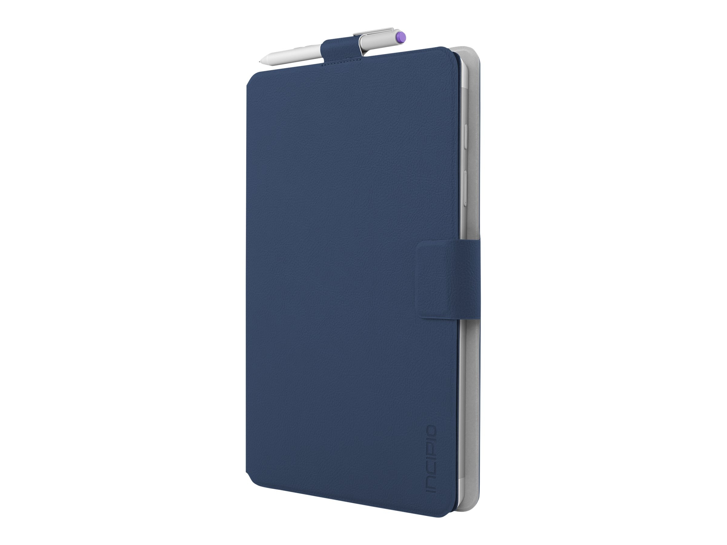 Incipio Roosevelt Slim Folio w  Snap-On Type Cover Compatibility for Microsoft Surface 3, Navy