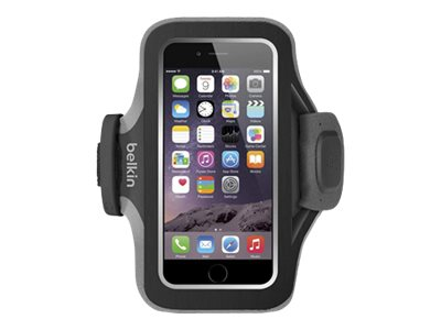 Belkin Slim-Fit Plus Armband for iPhone 6, Black, F8W499BTC00, 18815849, Carrying Cases - Phones/PDAs