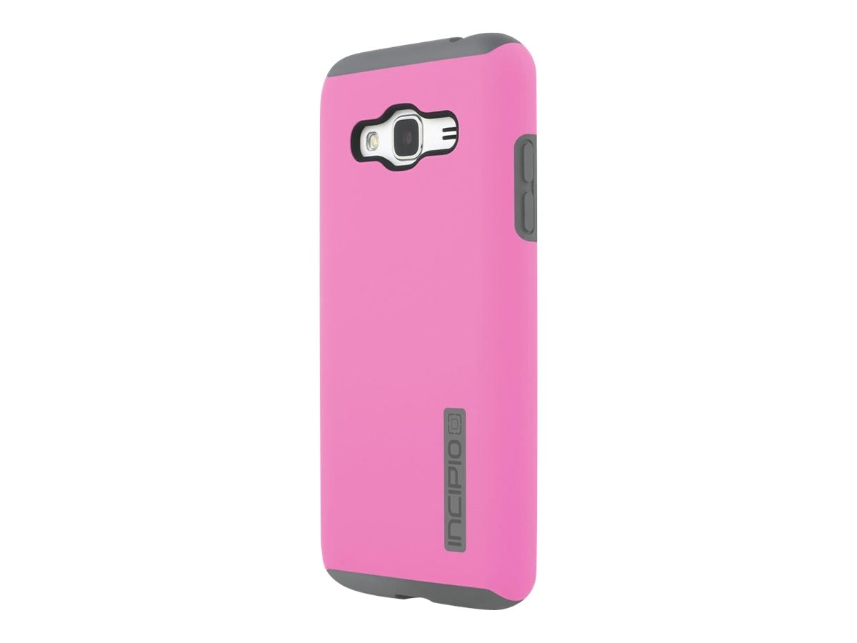 Incipio DualPro Hard Shell Case w  Impact Absorbing Core for Galaxy J3, Gray Pink, SA-760-PKGY
